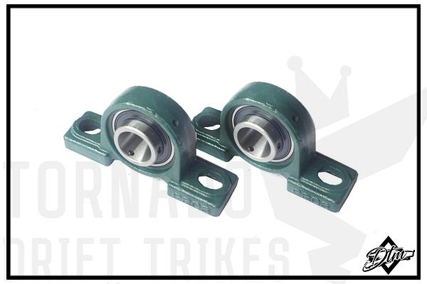 Корпусные подшипники для дрифт трайка моторного картинг запчасти детали купить (чугунный корпус) внутренний Ф30 мм p208 p 209 p202