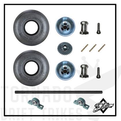 Комплект запчастей для дрифт трайка колеса диски ступицы ведомая звезда подшипники шпонки
