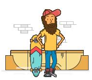 крытый скейт парк bmx парк прокат дрифт трайков
